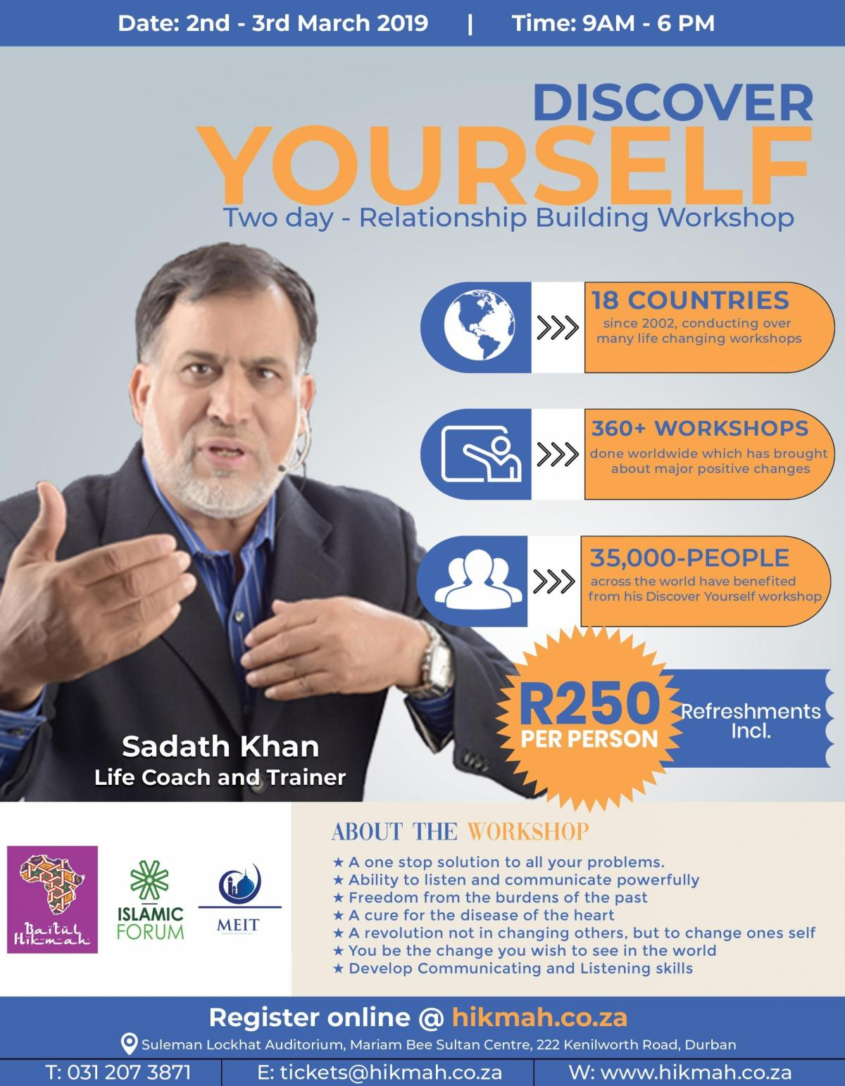 Sadatullah Khan - Discover Yourself (Two Day - Relationship Building Workshop)